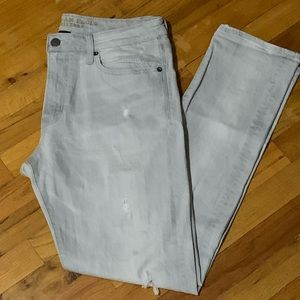 American Eagle Men's Slim Light Grey Jeans 34x32